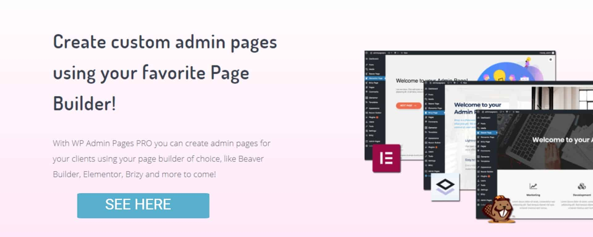 WP Admin Pages Pro Main website